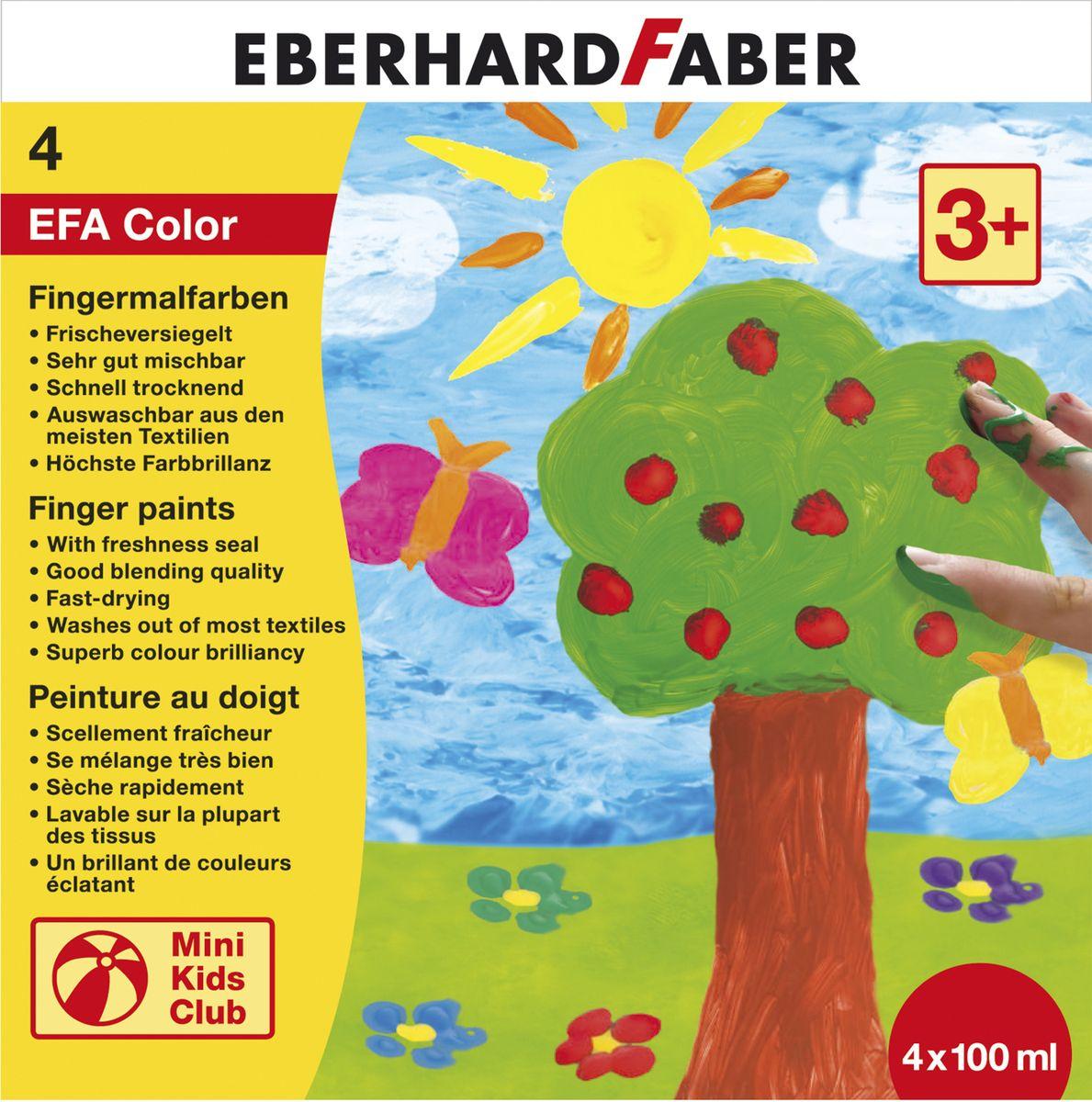 Eberhard Faber Пальчиковые краски Набор пластиковые баночки 4*100 мл578804