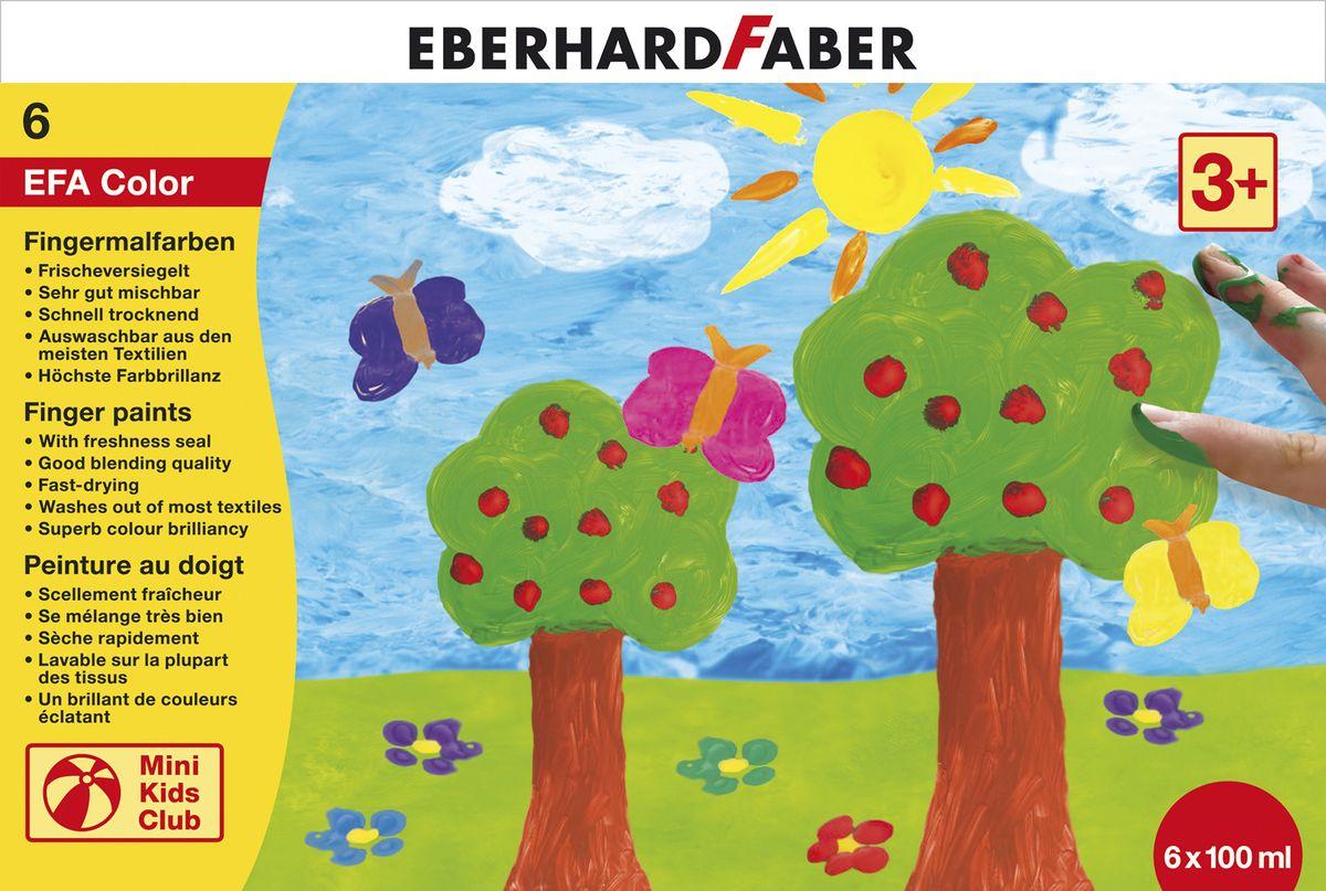 Eberhard Faber Пальчиковые краски Набор пластиковые баночки 6*100 мл578806