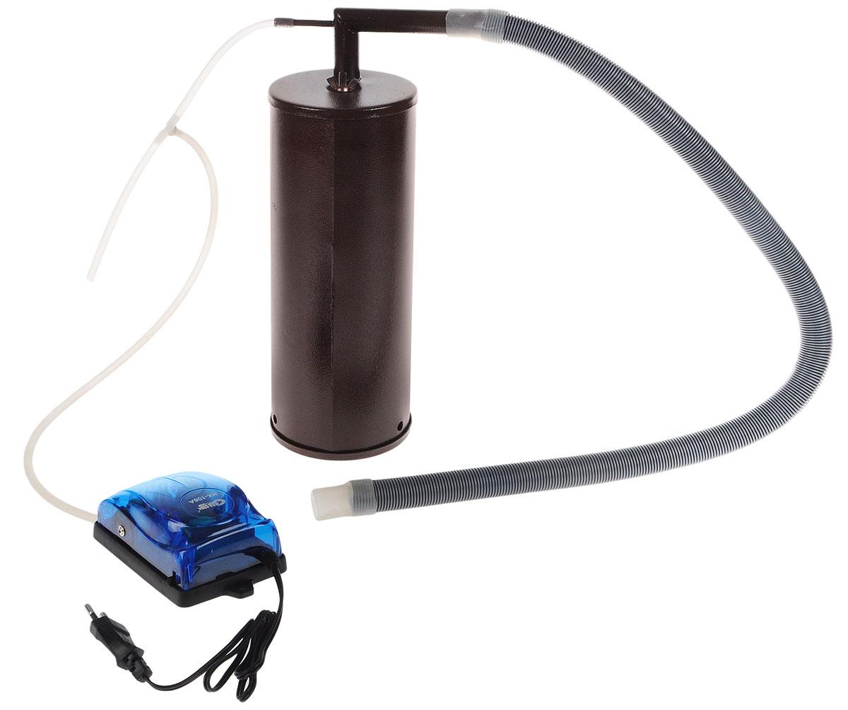 Дым Дымыч -01 коптильняДым Дымыч - 01Дымогенератор Дым Дымыч 01 - это устройство, предназначенное для постоянной подачи дыма в емкость для копчения. Дым Дымыч 01 является неотъемлемым компонентом холодного копчения.Холодным копчением называется обработка продуктов дымом с температурой от 19 до 40°C. Такой процесс может длиться много часов, а то и несколько дней.Копчение это наиболее экологичный метод обработки продуктов. В процессе копчения натуральным густым дымом из мяса или рыбы выводятся все вредоносные микроорганизмы и бактерии. Срок хранения такой пищи увеличивается, а вкусовые качества усиливаются.Производительность компрессора: 2,5 л/минДавление: 0,012 МПа