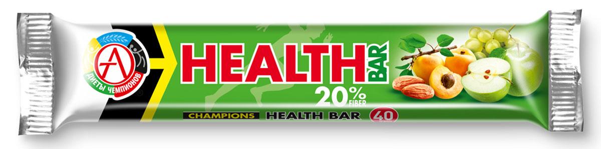 Спортивный батончик Сhampions Diet Champions Health Bar, фруктово-ореховый, 40 г батончик champions high protein bar 40 г шоубокс 16 шт академия т
