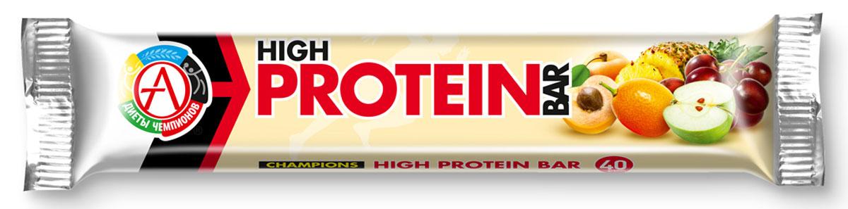 Протеиновый батончик Сhampions Diet Champions High protein Bar, фруктово-ореховый, 40 г батончики спортивные академия т батончик champions high protein bar 40 г шоубокс 16 шт