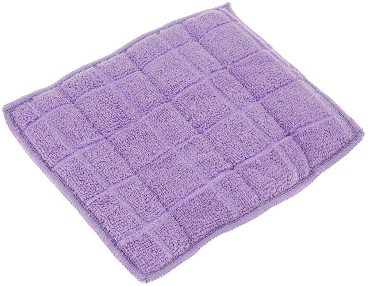 Салфетка для стеклокерамики Хозяюшка Мила, цвет: серебристый, голубой, фиолетовый, 23 х 17 см. 0402404024-150_серебристый, голубой, фиолетовыйСалфетка для стеклокерамики Хозяюшка Мила предназначена для очистки стеклокерамики от пыли, пятен, жира, копоти, а также для полировки и придания блеска без царапин. Для бережного ухода и качественной очистки салфетка является двусторонней и обладает двойным действием. Шероховатая сторона салфетки разработана для качественной очистки поверхности плиты от загрязнений. Гладкая сторона салфетки полирует поверхность, придавая ей блеск. Материал: 80% полиэстер, 20% полиамид. Размер салфетки: 23 х 17 см.