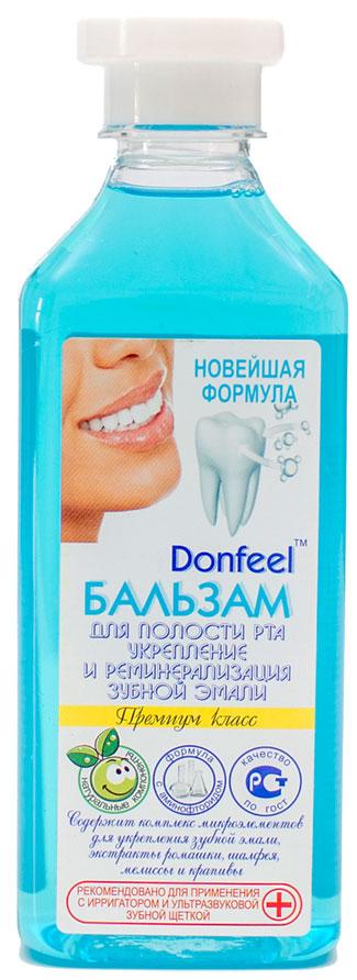 Donfeel Бальзам для полости рта (концентрат для ирригатора) Укрепление и реминерализация зубной эмали, 350 мл20160313Бальзам содержит ценные компоненты и экстракты трав для ухода за эмалью зубов. Аминофторид стабилизирует уровень pH в ротовой полости, что благоприятно сказывается на процессе пополнения эмали ионами кальция и фосфора для укрепления зубов. Наличие длинного органического хвоста у аминофторида позволяет ионам фтора быстрее осаждаться на поверхности зубной эмали и проникать в более глубокие слои эмали. В результате ионы фтора становятся намного доступнее и способствуют быстрой реминерализации эмали. Применение с ирригатором повышает эффективность.