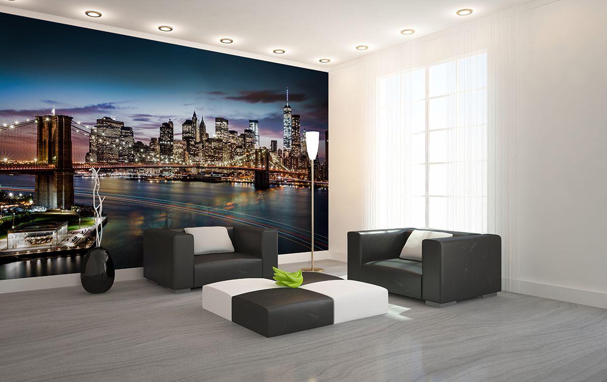 Фотообои PosterMarket Ночной Нью-Йорк, размер 368 х 254WM-05Ночной Манхеттен — завораживающее зрелище. Виды ночного мегаполиса, переливающегося огнями, добавят ритм и динамичность в любой интерьер.