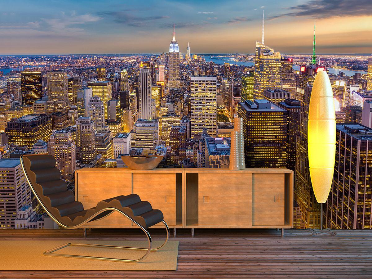 Фотообои PosterMarket Закат в Манхэттене, размер 254 х 184WM-11Манхэттен — историческое ядро Нью-Йорка и один из пяти его городских округов.