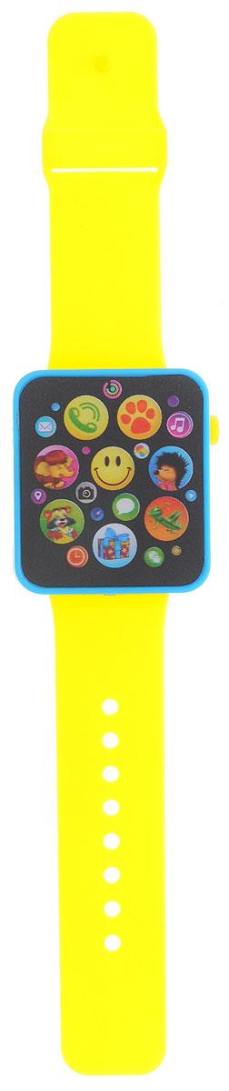 Азбукварик Музыкальные часики цвет синий желтый электронные игрушки азбукварик музыкальные часики