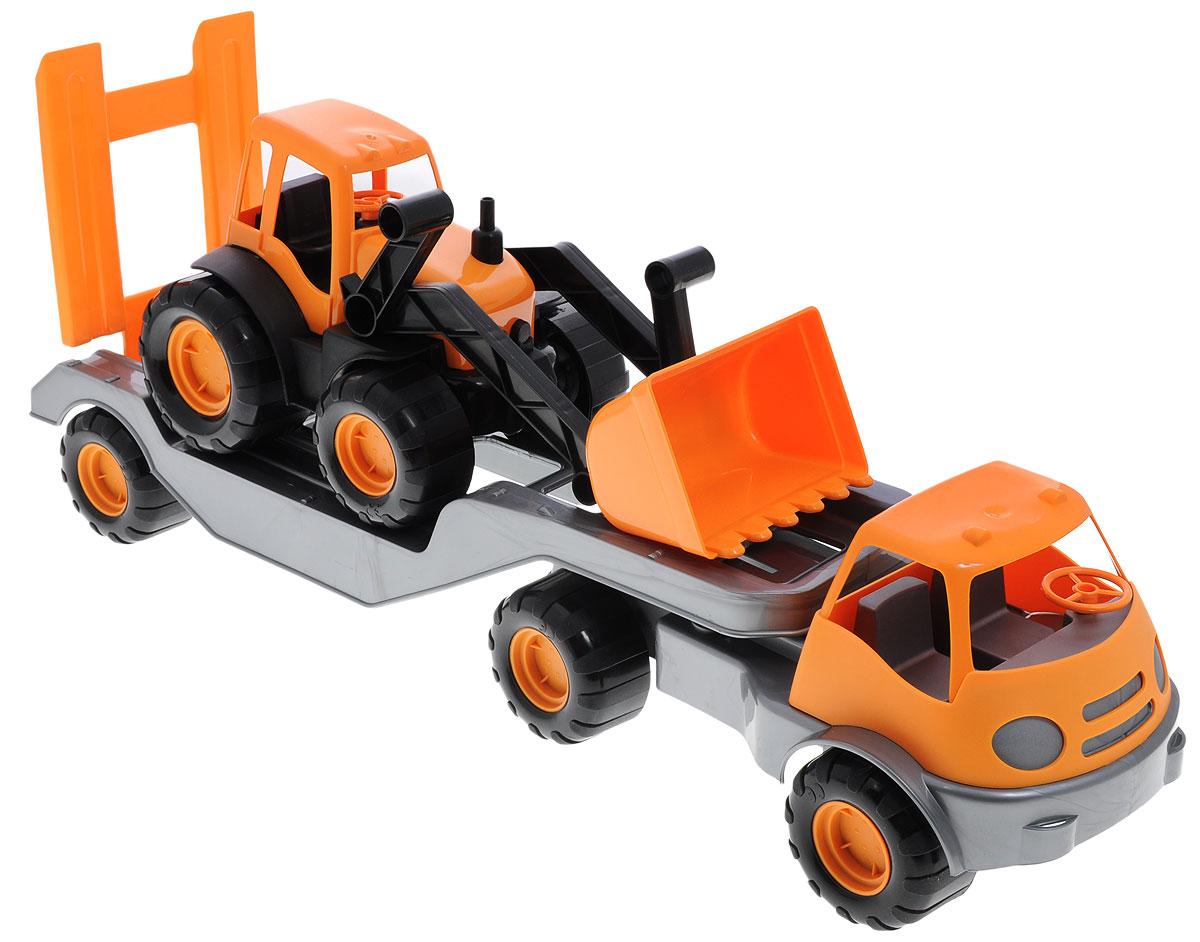 Zebratoys Тягач с трактором в ассортименте куплю седельный тягач в сцепке б у