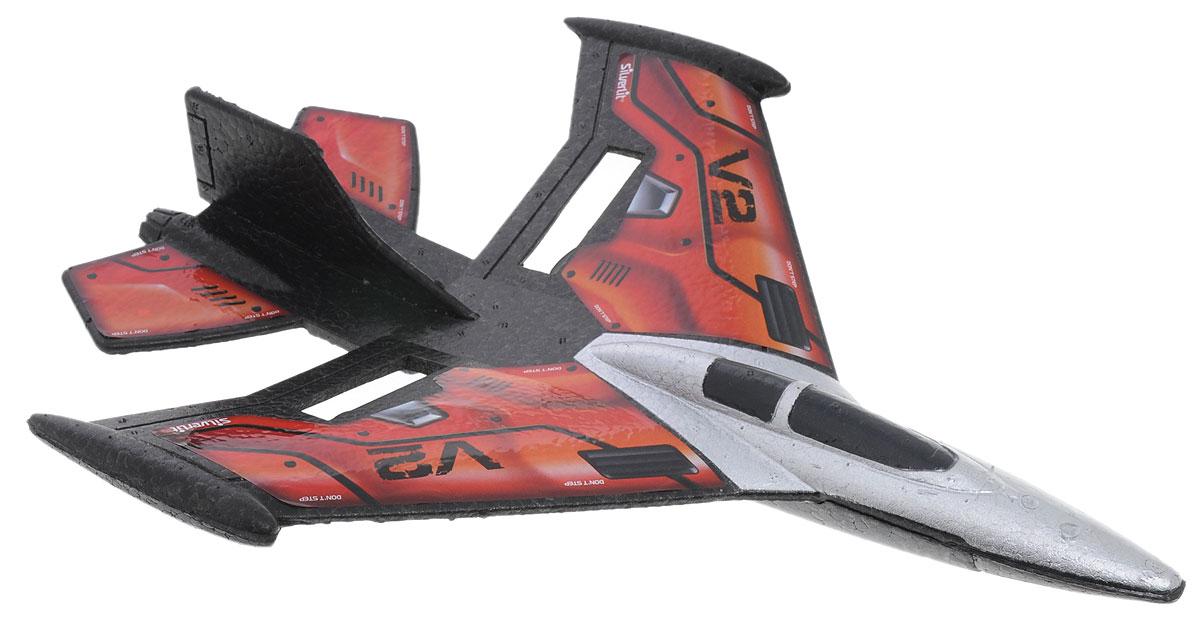 Silverlit Самолет на радиоуправлении X-Twin Jet цвет черный красный серебристый