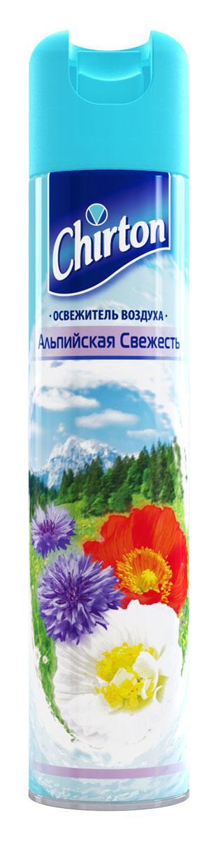 Освежитель воздуха Chirton Альпийская свежесть, 300 мл30679Chirton представляет новейшую серию освежителей для вашего дома с его незабываемыми ароматами на любой вкус. Высокое качество позволит быстро избавиться от неприятных запахов в любом уголке вашего дома. Легко устраняет неприятные запахи, надолго наполняя дом неповторимыми нежными ароматами.