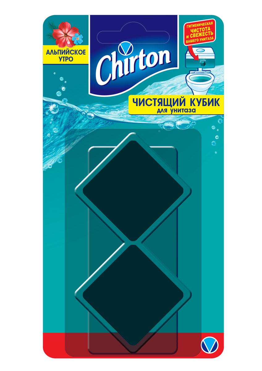 """Кубик Chirton """"Альпийское утро"""" без особых хлопот обеспечит гигиеническую чистоту и свежесть   вашего туалета в течение длительного времени. Очищает поверхность унитаза, предотвращая   образование известкового налета. Уничтожает бактерии даже в труднодоступных местах.   Создает обильную пену и стойкий свежий аромат при каждом сливе воды.Состав: менее 5% - ароматизирующие добавки, красители, неионогенные ПАВ; 15% и более, но   менее 30% - анионные ПАВ; более 30% - соли органических и неорганических кислот.Товар сертифицирован.    Как выбрать качественную бытовую химию, безопасную для природы и людей. Статья OZON Гид"""
