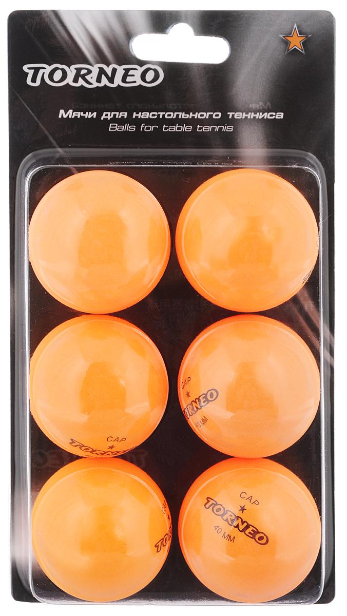 Набор мячей для настольного тенниса Torneo, 6 шт torneo torneo vento c 208g