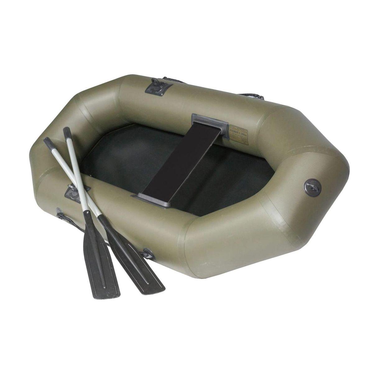 Лодка надувная Лоцман C-200 ВУ, цвет: зеленый резиновые лодки для рыбалки цены