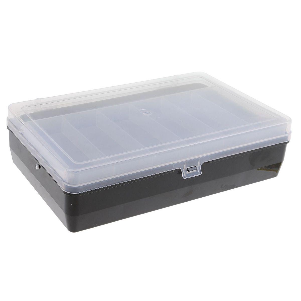 Коробка для крючков и насадок Trivol, двухъярусная, с микролифтом, цвет: черный, прозрачный, 23 х 15 х 6,5 см1271657Коробки для крючков, как и другие аксессуары для рыбалки, помогут сделать процесс подготовки к самой рыбной ловле максимально удобным. Двухъярусная коробка для крючков и насадок Trivol с микролифтом идеально подойдет в любое время года, для любого типа рыбалки и поможет вовремя отыскать среди всех снастей именно те, которые необходимы на данный момент.