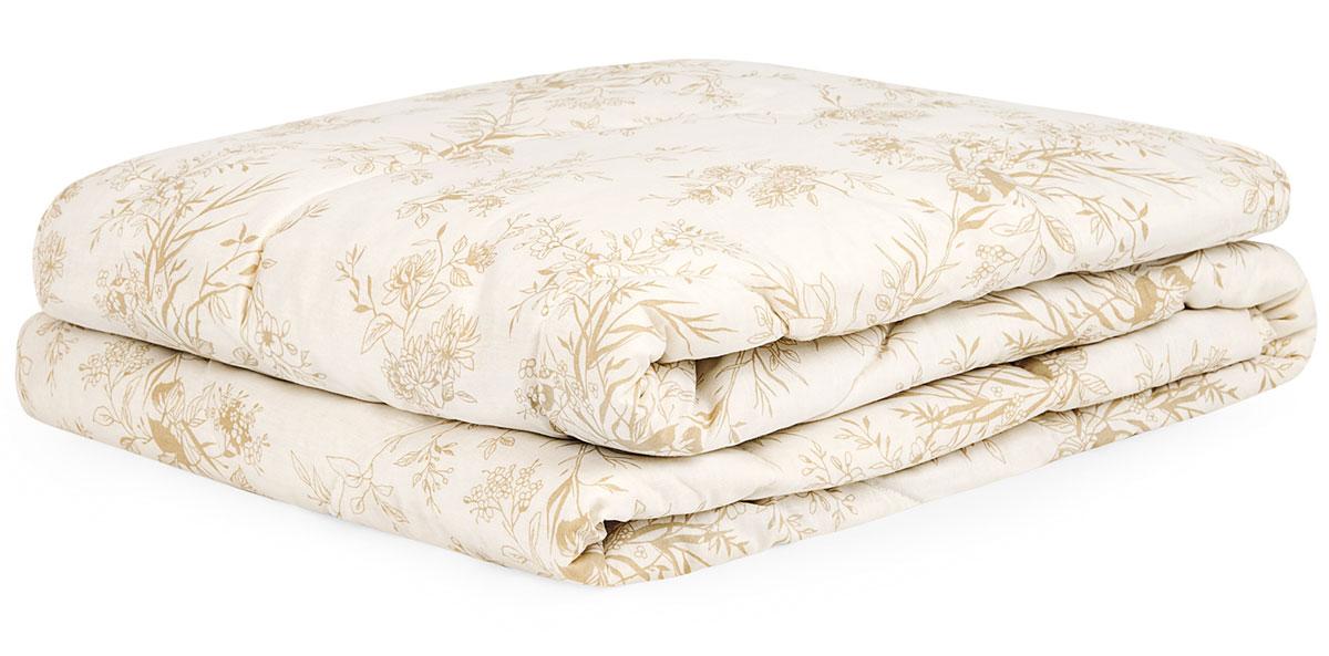 Одеяло Classic by T  Хлопок-натурэль , наполнитель: хлопок, полиэфир, цвет: экрю, 175 х 200 см - Одеяла