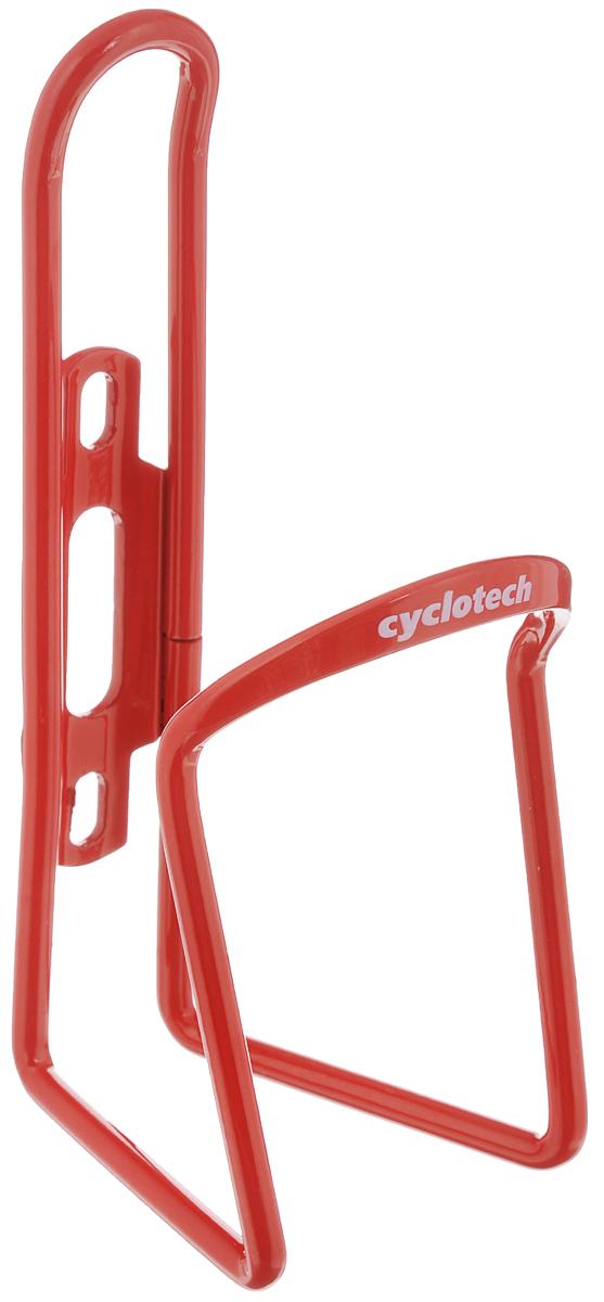 Флягодержатель Cyclotech, цвет: красныйCBH-1RУниверсальный флягодержатель Cyclotech, выполненный из прочного металла, способен удерживать не только велофлягу, но и обычные пластиковые бутылки, закрепляется на раме велосипеда с помощью двух шурупов (в комплект входят). Это незаменимая вещь для спортсменов и любителей длительных велосипедных прогулок. Благодаря держателю, фляга с водой будет у вас всегда под рукой.Гид по велоаксессуарам. Статья OZON Гид