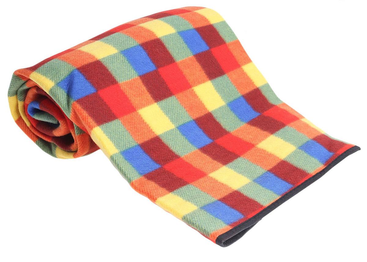 Коврик туристический Onlitop, цвет: мультиколор, 130 х 150 х 0,3 см коврик домашний sunstep цвет кремовый 120 х 170 х 4 см