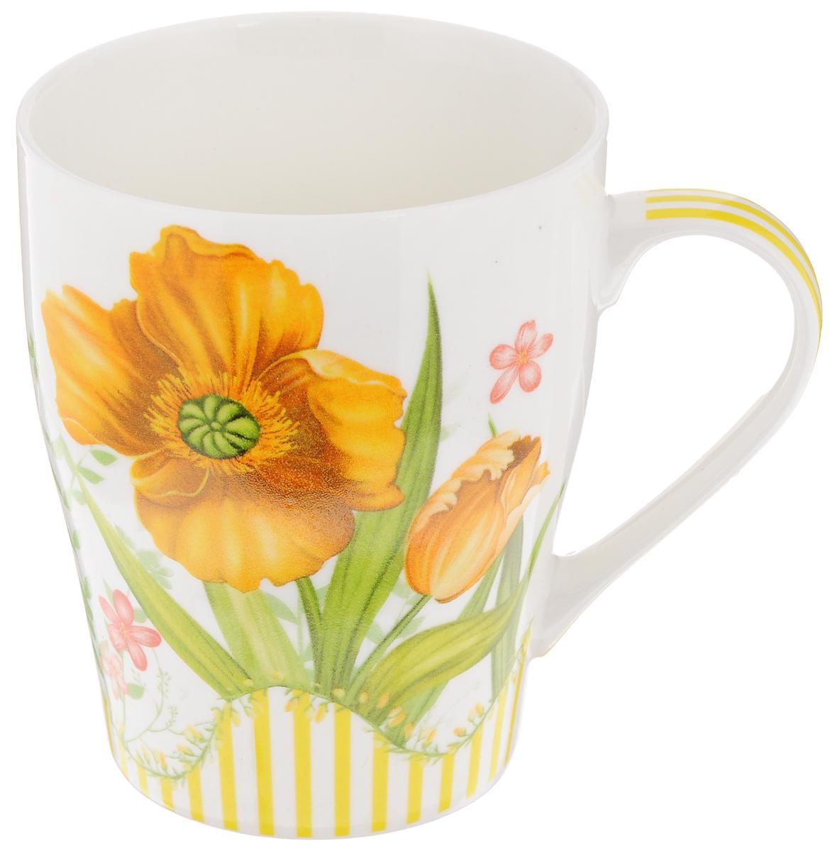 Кружка Loraine Цветок, цвет: белый,оранжевый, 340 мл24466_белый,оранжевыйКружка Loraine Цветок изготовлена извысококачественного фарфора.Изделие оформлено изображением цветов. Такаякружка станет приятнымсувениром и обязательно порадует вас и вашихблизких.Объем: 340 мл.Диаметр кружки (по верхнему краю): 8 см.Высота кружки: 10 см.
