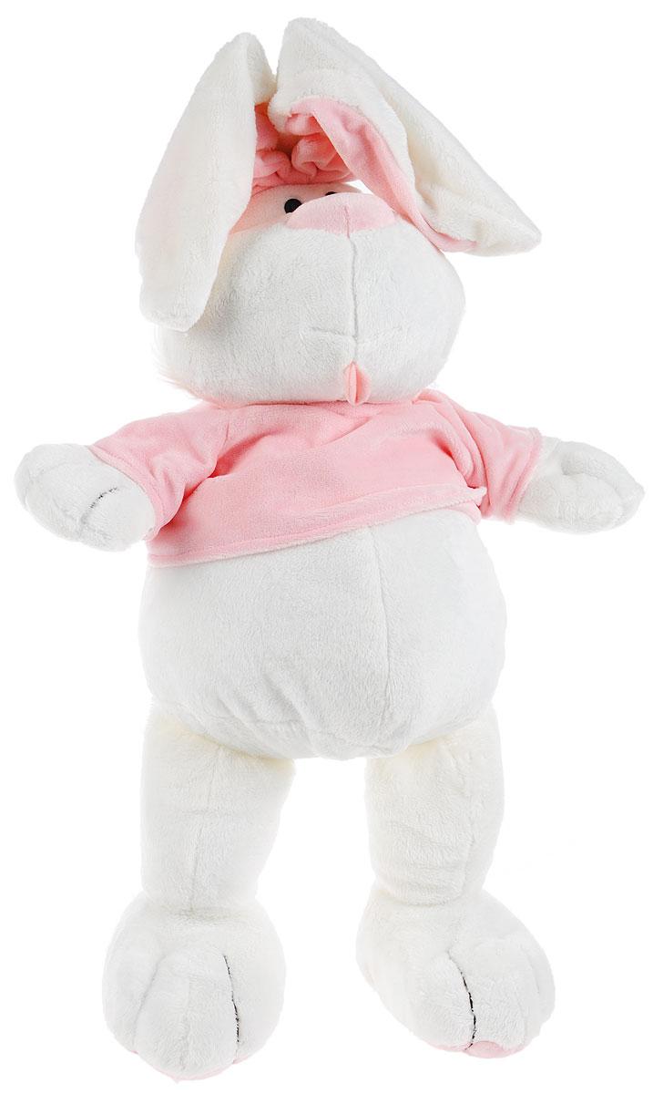Gulliver Мягкая игрушка Кролик цвет белый розовый 56 см