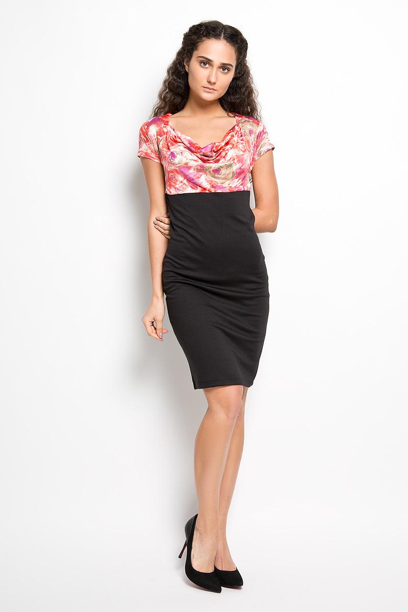 Платье Karff, цвет: черный, красный, фиолетовый. LD 003-03. Размер M (46) пуловеры karff пуловер