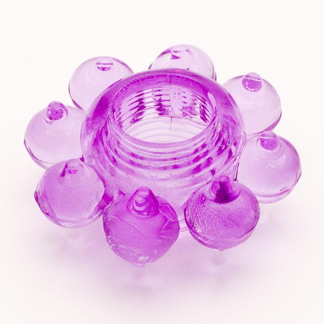 TOYFAЭрекционное кольцо, цвет:  фиолетовый.  818001-4 Toyfa