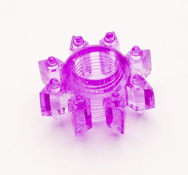 TOYFAЭрекционное кольцо, цвет:  фиолетовый.  818002-4 Toyfa