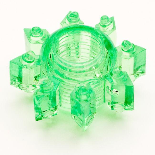 TOYFAЭрекционное кольцо, цвет:  зеленый.  818002-7 Toyfa