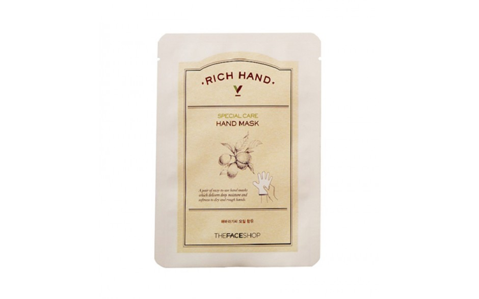 The Face Shop Маска для рук Rich Hand, 1,6 г крем для рук lm mini pet hand cream 04 fruity floral 30 мл the face shop