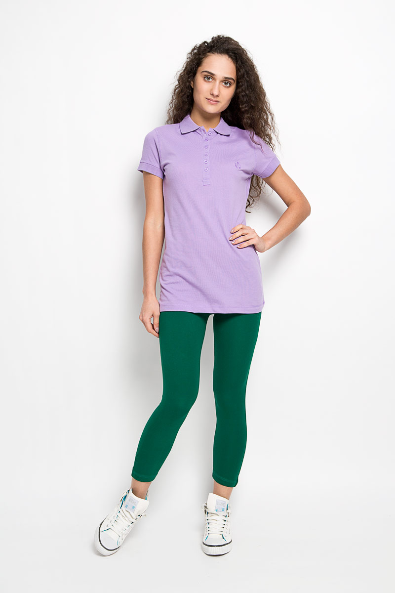 Поло женское Karff, цвет: сиреневый. 55552-01. Размер M (46) пуловер мужской karff цвет синий бордовый черный 88004 01 размер xxl 56
