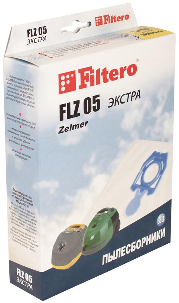 Filtero FLZ 05 Экстра мешок-пылесборник 3 шт пылесборник для сухой уборки filtero brk 01 экстра