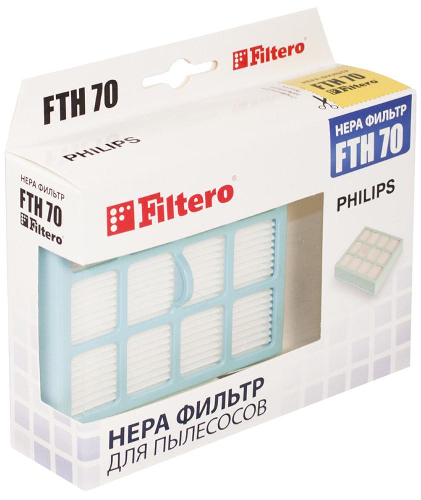 Filtero FTH 70 PHI фильтр для пылесосов PhilipsFTH 70Немоющийся фильтр Filtero FTH 70 уровня фильтрации НЕРА Н 12 препятствует выходу мельчайших частиц пыли и аллергенов из пылесоса в помещение. Он подлежит замене согласно рекомендации производителя пылесосов - нереже одного раза за 6 месяцев.