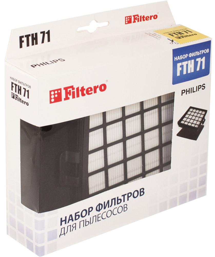 Filtero FTH 71 PHI фильтр для PhilipsFTH 71Набор немоющихся фильтров Filtero FTH 71 PHI препятствует выходу мельчайших частиц пыли и аллергенов из пылесоса в помещение. Они подлежат замене согласно рекомендации производителя пылесосов - не реже одного раза за 6 месяцев.