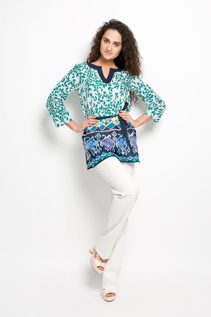Брюки женские Finn Flare, цвет: молочный. S16-11010. Размер M (46) брюки женские finn flare цвет черный w16 170150 200 размер m 46