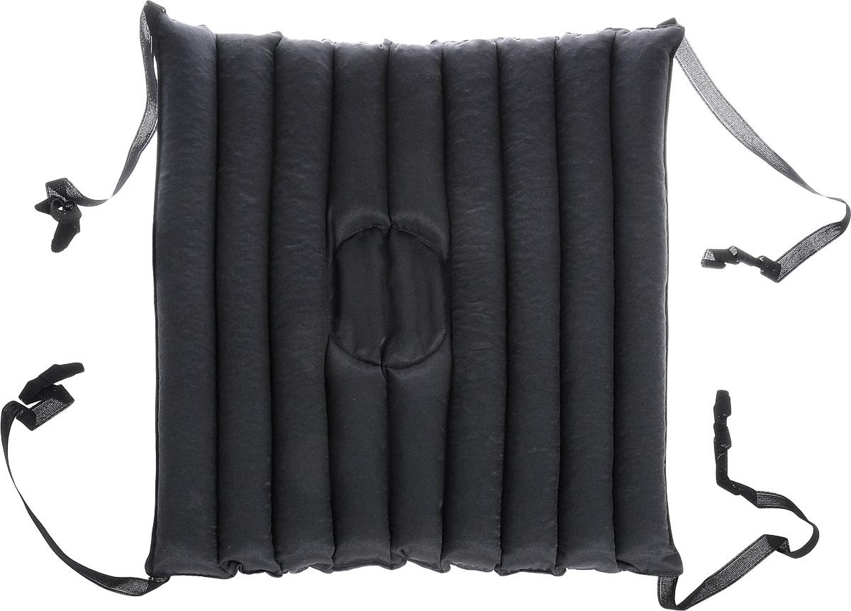 """Подушка на автомобильное сиденье Smart Textile """"Гемо-комфорт авто"""", без чехла, с завязками, наполнитель: лузга гречихи, 50 х 50 см"""