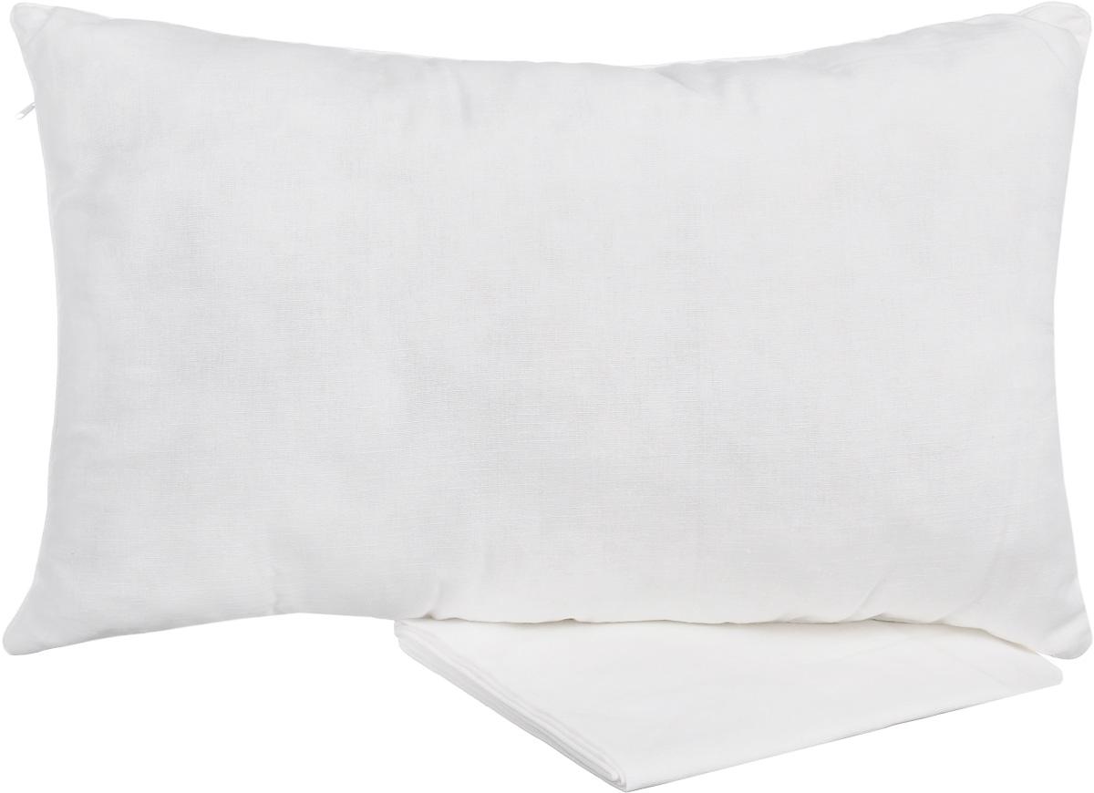 """Подушка Smart Textile """"Льняная"""" обеспечит вам комфортный  сон. Изделие выполнено из высококачественного льна и  хлопка, внутри - наполнитель из бамбукового волокна. В  комплект входит льняная наволочка. Такая подушка приятна  на ощупь и гипоаллергенна.   Наперник такой подушки выполнен из 50% льна, с добавлением 50% хлопка. Она приятная на ощупь и гипоаллергенна.  Лен на протяжении веков считается одним из самых ценных материалов. Он гигроскопичен (хорошо впитывает влагу и одновременно быстро отдает ее), обеспечивает циркуляцию воздуха, отводит лишнее тепло от тела при любой влажности помещения, позволяя Вам крепко спать в комфортной температуре. Такие подушки будут хорошо храниться, переносить температурные перепады и не прихотливы в уходе.  В подушке «Льняная» используется наполнитель бамбуковое волокно, который не вызывает аллергических реакций, не токсичен, мягок и приятен на ощупь. Бамбуковое волокно не прихотливо в уходе, долго сохраняет свой первоначальный вид даже после многочисленных стирок. Вы заслуживаете крепкий и здоровый сон!    Подушка упакована в пластиковую сумку-чехол на застежке- молнии с ручками для  комфортной переноски и хранения.  Рекомендации по уходу:  - Стирка запрещена, - Нельзя отбеливать, - Не гладить, - Химчистка только с использованием углеводорода, хлорного  этилена, - Сушка в горизонтальном положении.  Материал чехла и наволочки: 50% хлопок, 50% лен.  Материал наполнителя: бамбуковое волокно."""