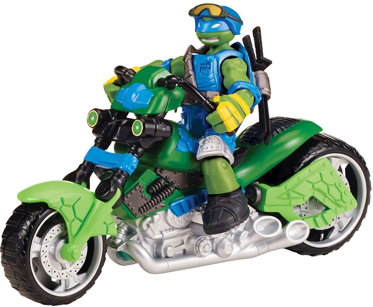 Черепашки Ниндзя Мотоцикл-квадрокоптер с фигуркой Лео игровые фигурки turtles машинка черепашки ниндзя 7 см сплинтер на атаке сенсея