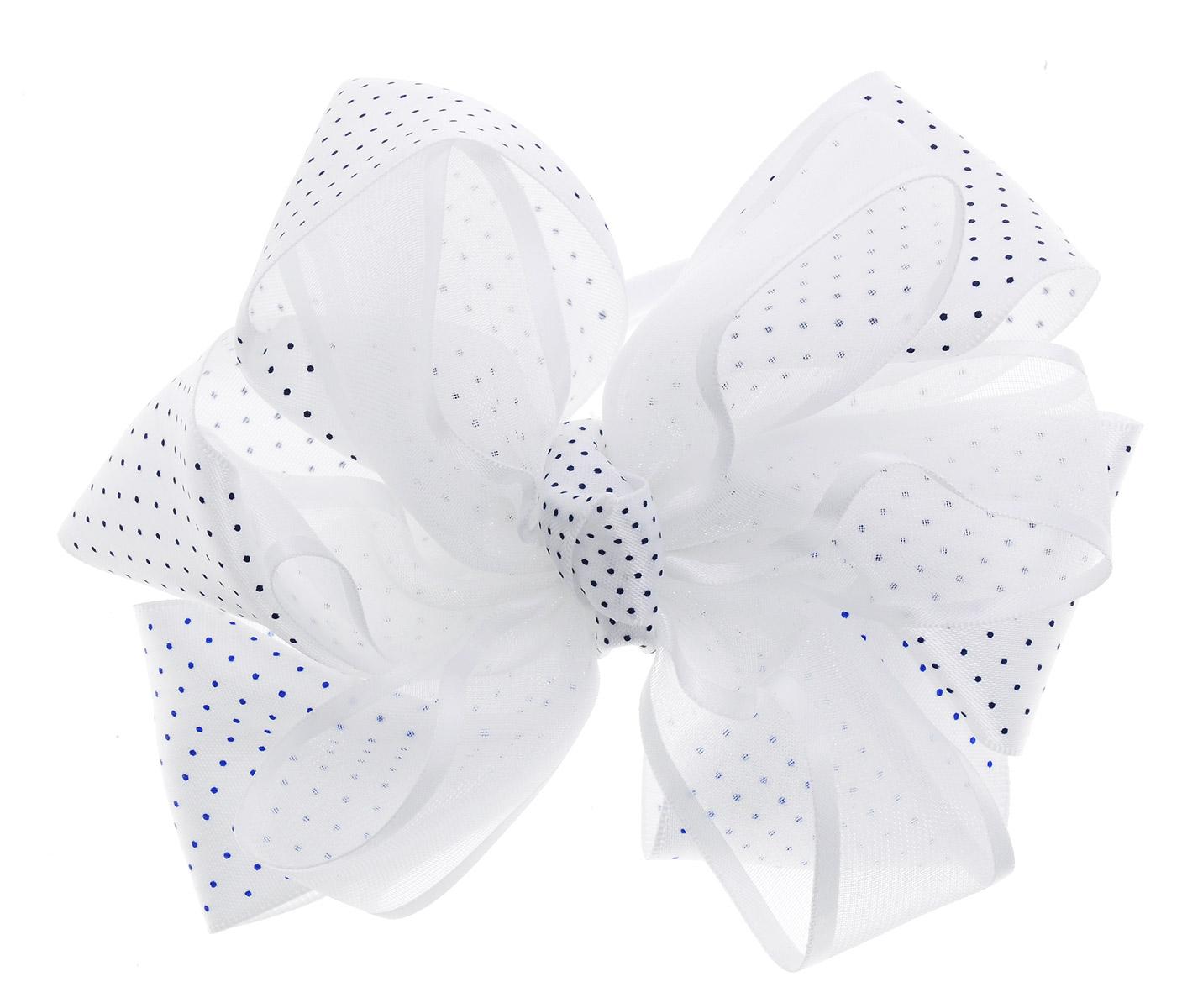 Baby's Joy Резинка для волос Бант цвет белый