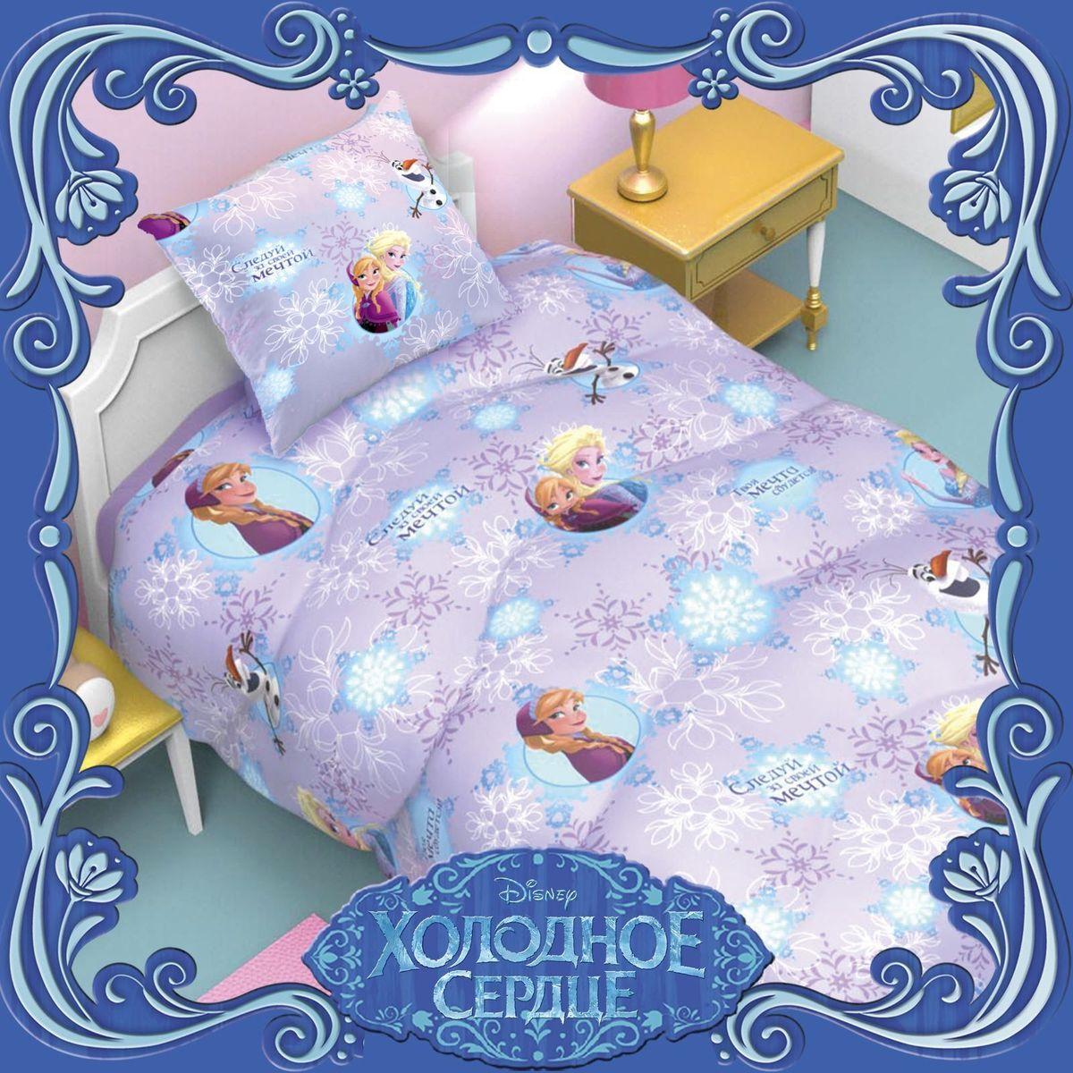 Disney Подушка Холодное сердце 50 х 70 11531641153164Сказочные сны с любимыми героями Disney. Маленький любитель мультфильмов Disney будет в восторге от этого яркого одеяла ! Оно подарит крохе захватывающие сны и по-настоящему доброе утро.Почему?Потому что одеяло изготовлено в России на современном оборудовании, а при нанесении рисунка использовались только качественные европейские красители.Над дизайном работала команда настоящих мастеров своего дела: очаровательные персонажи мультфильмов, детально проработанная картинка, гармоничное сочетание цветов — всё это результат их кропотливой работы.В качестве наполнителя для изделия используется файбер — практичный, безопасный и мягкий материал. Именно поэтому одеяло:поддерживает комфортную температуру тела во время сна; не способствует появлению аллергии и раздражения; позволяет коже дышать и впитывает влагу; хорошо переносит многочисленные стирки, сохраняя первоначальную форму и внешний вид; Чехол выполнен из поплина — прочной, невероятно приятной на ощупь хлопковой ткани, которая хорошо поддаётся окрашиванию и также позволяет коже дышать.Состав:Чехол: хлопок 100 %, поплин 125 г/м?.Наполнитель: файбер 200 г/м?.Рекомендации по уходу за изделием: стирайте при температуре не выше 40 °C без использования отбеливателей. Сушите в горизонтальном положении.