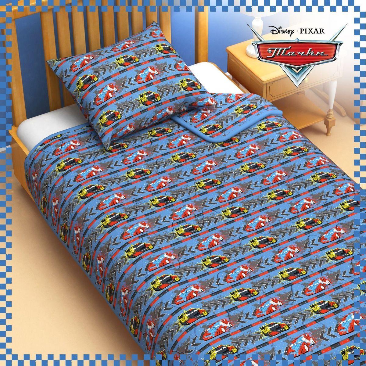 Disney Одеяло 1,5 спальное Тачки цвет голубой 140 х 205 см - Детский текстиль