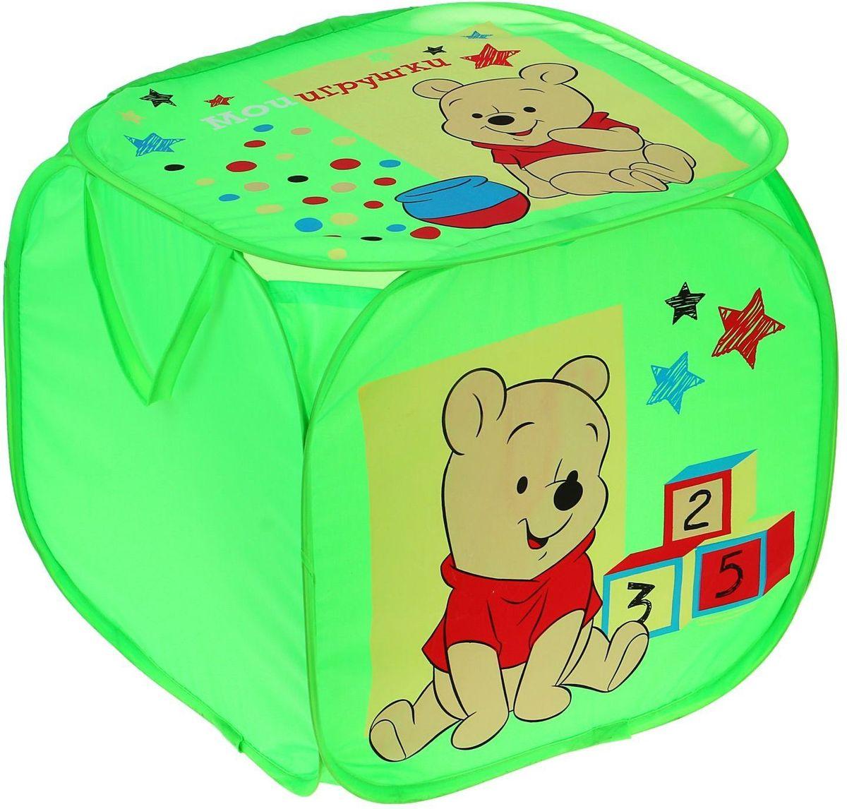 Disney Корзина для хранения Мои игрушки Медвежонок Винни мягкие игрушки disney винни 25 см