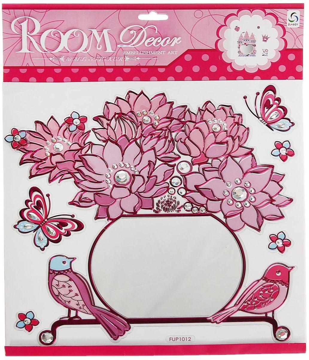 Room Decor Наклейка зеркальная Ваза с цветами