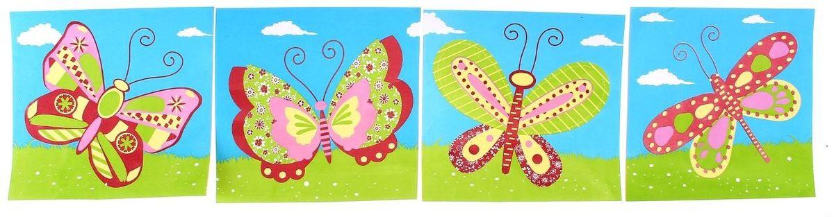 Room Decor Наклейка интерьерная Бабочки 4 шт890361Наклейка интерьерная - именно то, что раскрасит серые будни яркими красками. Создайте для себя и своих близких атмосферу праздника. Данный товар соответствует российским стандартам качества, вам не придётся краснеть за такой подарок.