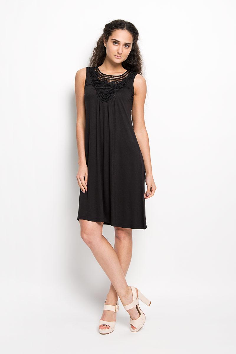 Платье Karff, цвет: черный. LD 008-01. Размер M (46) пуловер мужской karff цвет синий бордовый черный 88004 01 размер xxl 56