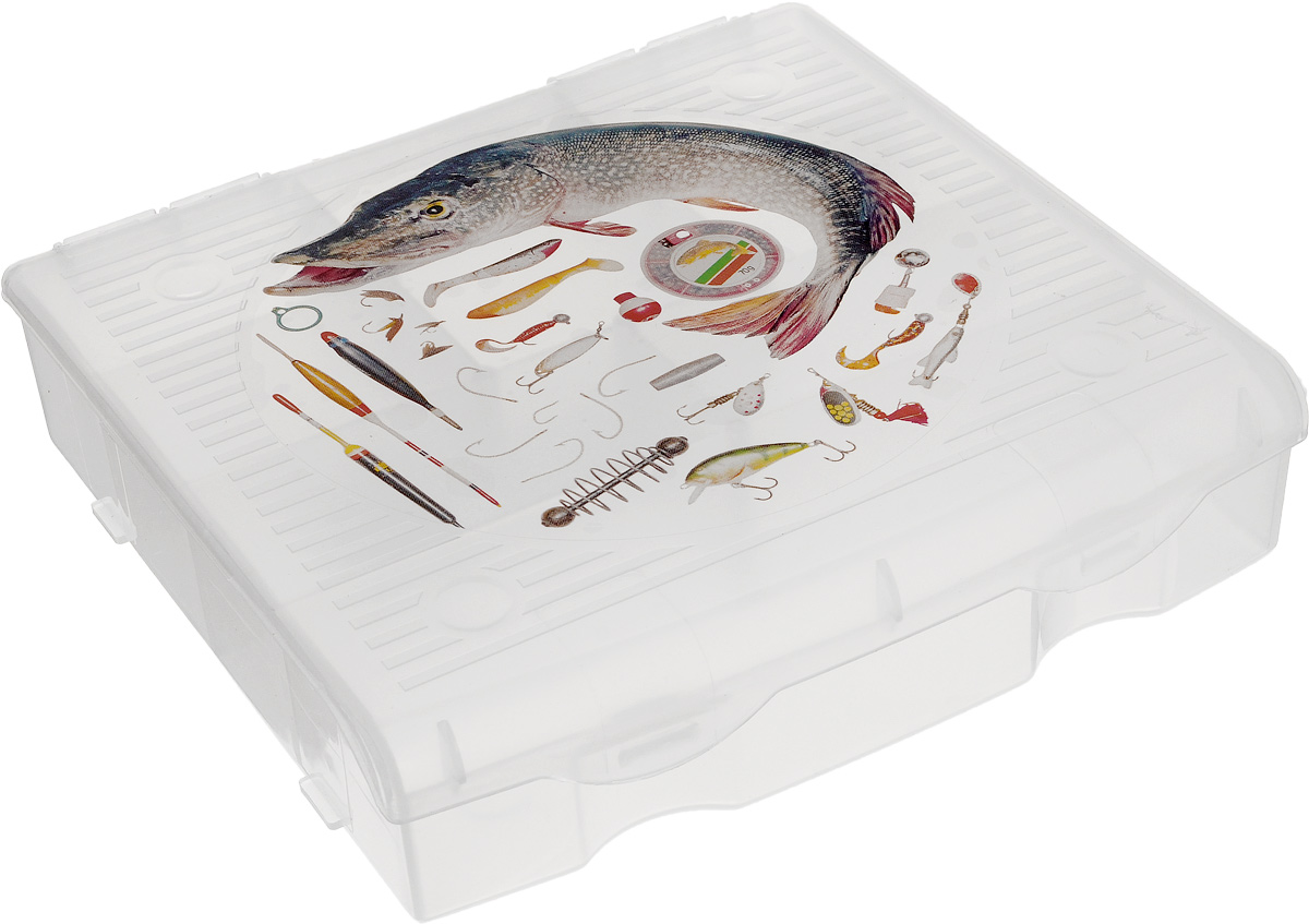 """Удобный пластиковый органайзер для рыболовных принадлежностей """"Blocker"""" прекрасно подойдет для хранения и транспортировки различных мелочей. Он имеет 9 фиксированных секций. Удобный и надежный замок-защелка обеспечивает надежное закрывание. Такой органайзер поможет держать вещи в порядке. Размер малых секций: 5,3 х 3,5 см. Размер средних секций: 8 х 3,5 см.Размер большой секции: 16 х 4 см. Размер органайзера: 17 х 16 х 4,5 см."""