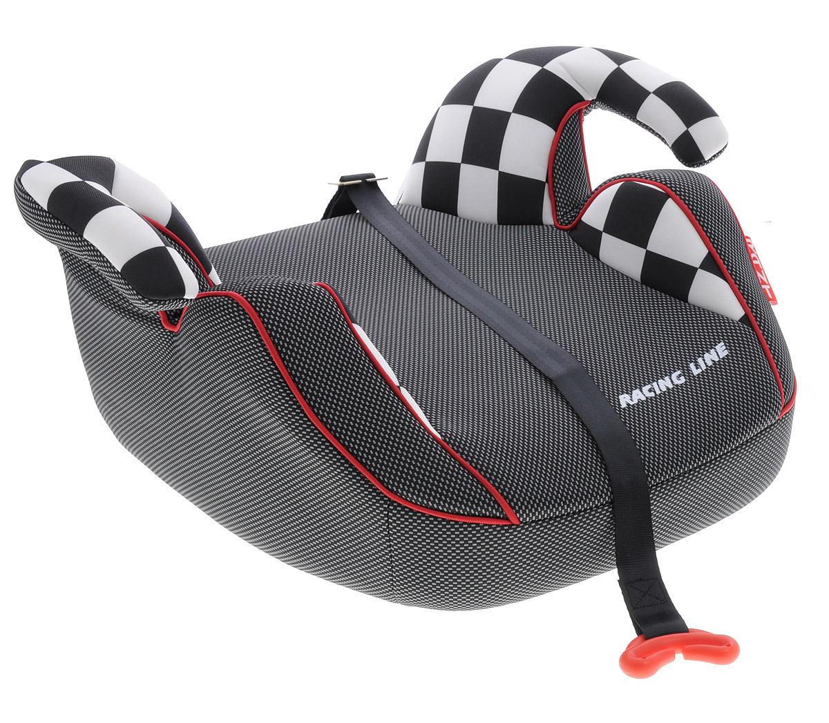 Rant Бустер Racer 15-36 кг цвет черный серый белый4630008874608Автокресло Rant Racer предназначено для детей весом от 15 до 36 кг и относится к старшей возрастной группе.Автокресло представляет собой сиденье без спинки анатомической формы с удобными подлокотниками, которые обеспечивают комфорт ребенку при длительных поездках, а также обеспечивают правильное положение рук ребенка, чтобы он меньше уставал во время поездок. Автокресло разработано для того, чтобы приподнять ребенка на необходимую высоту, чтобы автомобильный ремень безопасности правильно проходил через грудную клетку и тазобедренную часть ребенка. В конце поездки автокресло можно с легкостью и быстро убрать в багажник машины. Его также можно использовать для поездок в такси или других автомобилях, которые не оборудованы детскими автокреслами.Съемный чехол автокресла Rant Racer изготовлен из экологичной, эластичной ткани, легко чистится или стирается вручную, возможна стирка в деликатном режиме в стиральной машине при температуре 30 градусов.Автокресло устанавливается по направлению движения на заднем сиденье автомобиля, и крепится вместе с ребенком штатными автомобильными ремнями. Специальный фиксатор положения ремня поможет правильно зафиксировать ремень на уровне груди ребенка.Диагональный ремень безопасности должен проходить через грудную клетку и плечо ребенка, а не шею. Закрепляя горизонтальный ремень безопасности через подлокотники автокресла, обязательно максимально натяните его и следите за тем, чтобы он проходил через тазобедренную часть тела, а не через живот.