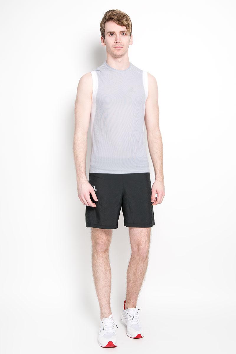 Майка для бега мужская Salomon Trail Runner Ss Tee M, цвет: светло-серый, темно-серый. L37965900. Размер L (52/54)