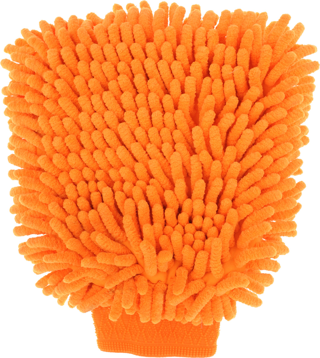 Рукавица для уборки Eva Спагетти, двусторонняя, цвет: оранжевый, 22 х 16 смЕ74_оранжевыйДвусторонняя рукавица Eva Спагетти, изготовленная из микрофибры (полиэстера, полиамида), легко удаляет пыль, деликатно моет поверхности, мягко удаляет сильные загрязнения, применяется как в сухом, так и во влажном виде. Рукавица удобно держится на руке и великолепно впитывает воду. Идеально подходит для уборки, как в доме, так и в автомобиле.