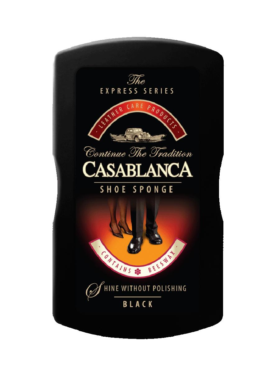 Губка для обуви Casablanca, цвет: черный. 11021102Губка для обуви Casablanca - универсальное средство для чистки обуви, обладает точечной дозацией и долгосрочным сроком хранения. Комбинированный состав, наносится на поролон с помощью точечной дотации. Это позволяет ввести состав в глубину поролоновой губки и тем самым дольше сохранить его от испарения. Губки обогащены пчелиным воском для придания идеального блеска вашей обуви.