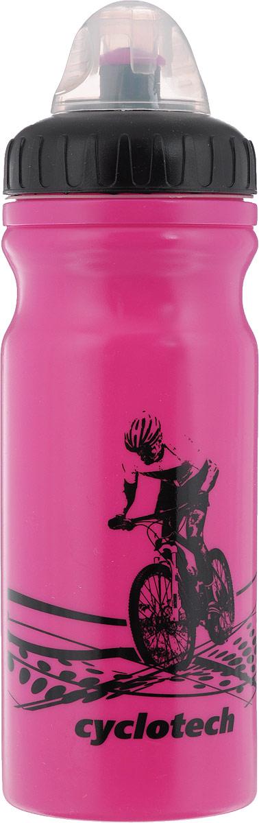 Фляга велосипедная Cyclotech, цвет: розовый, черный, 700 млCBOT-1PВелосипедная фляга Cyclotech изготовлена из высококачественного полиэтилена высокого давления. Изделие без труда устанавливается на велосипед (держатель для фляги приобретается отдельно). Благодаря клапану с сильной струей можно делать большие глотки, а за счет большой винтовой крышки флягу легко наполнить водой. Высота фляги: 23 см.Гид по велоаксессуарам. Статья OZON Гид