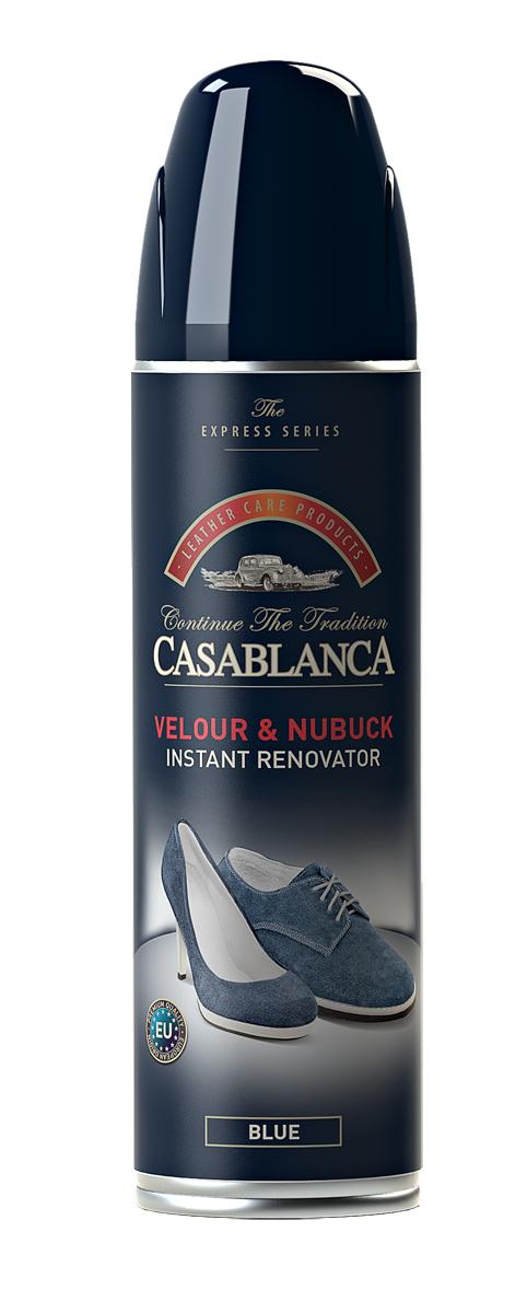Спрей для обуви Casablanca, для замши, нубука, цвет: синий. 1310. 250мл1310Восстановитель для замши и нубука обладает приятным запахом, имитирующим новую кожу. Возвращает отличный внешний вид. Восстанавливает цвет. Питает. Очищает. Защищает от воздействия окружающей среды.