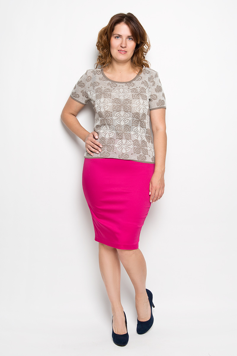 Юбка Milana Style, цвет: фуксия. 30316. Размер XXL (52)